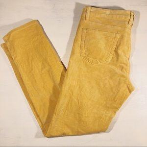 Kut from the Kloth corduroy yellow Diana Skinny